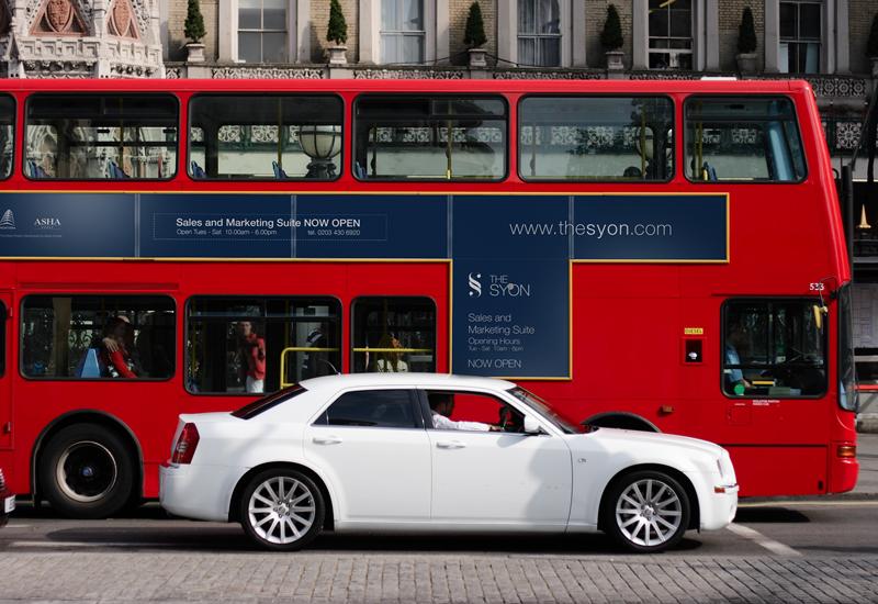 The Syon apartment marketing outdoor bus