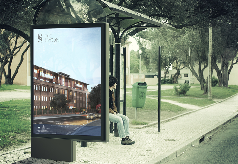 the syon apartment marketing brochure bus stop