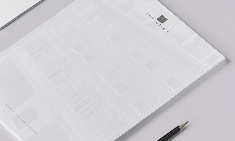 oxford place large property brochure paper