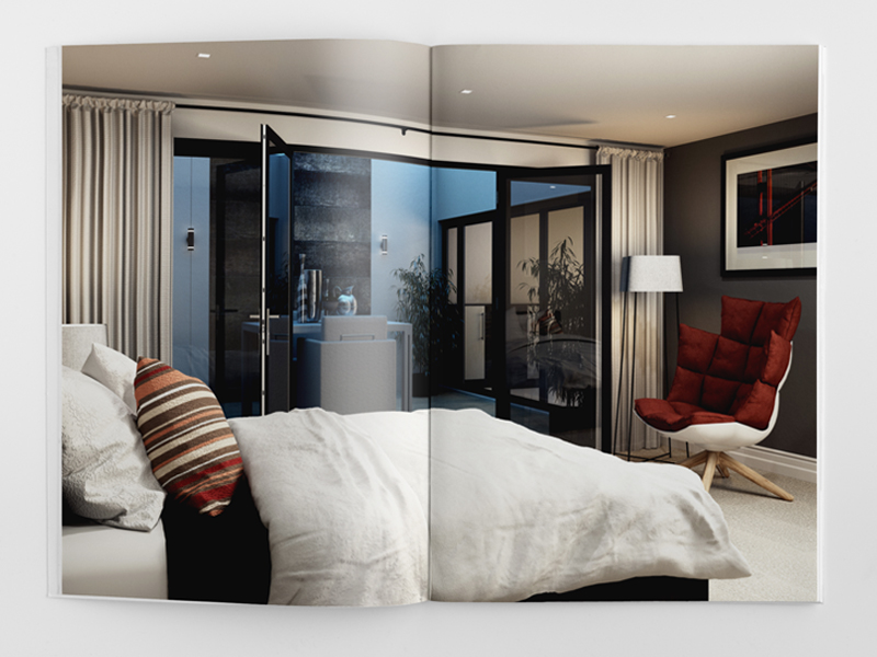elegant brochure design townhouse bedroom